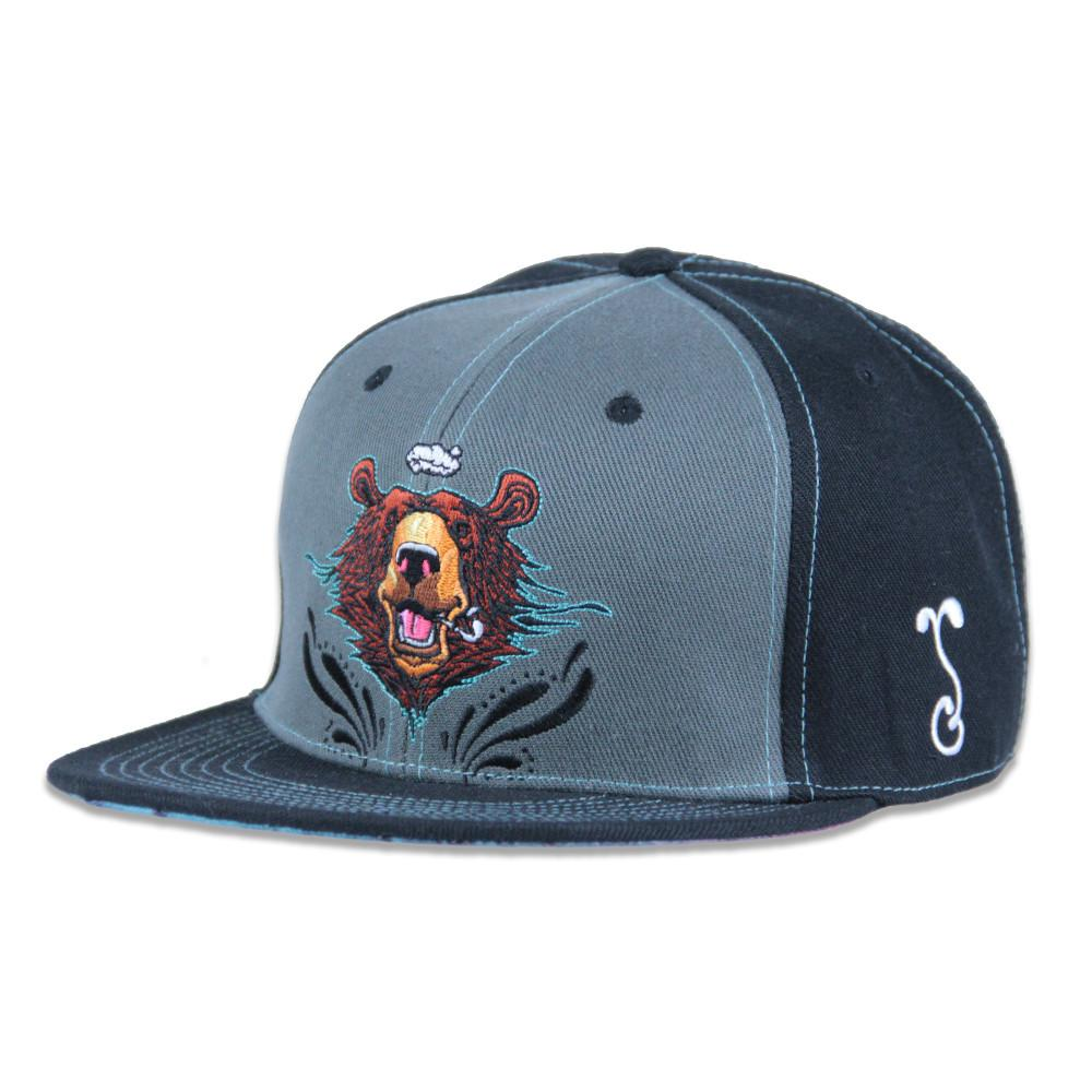 Black Ink Art Bear Snapback - Grassroots California - 1