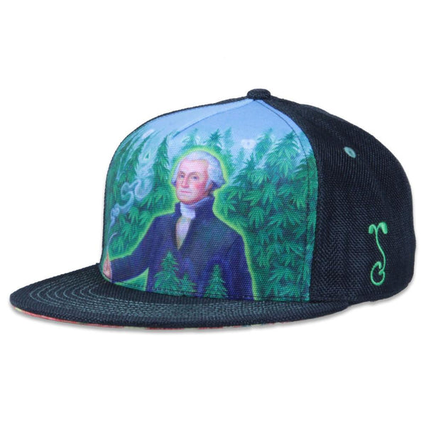 Alex Grey's George Washington Hemp Farmer Shallow Fitted - Grassroots California - 1