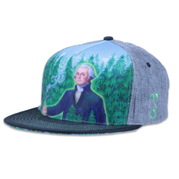 Alex Grey's George Washington Hemp Farmer Shallow Snapback - Grassroots California - 1
