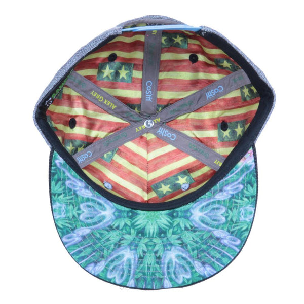 Alex Grey's George Washington Hemp Farmer Shallow Snapback - Grassroots California - 2