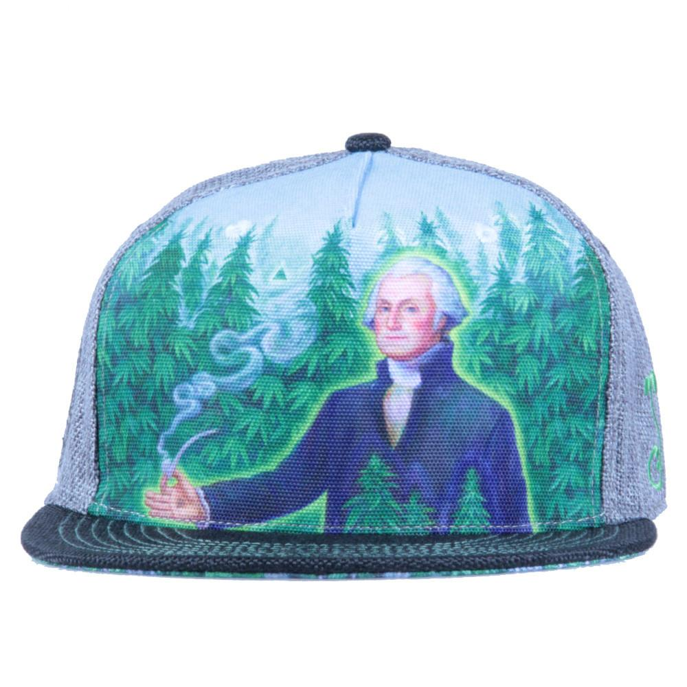 Alex Grey's George Washington Hemp Farmer Shallow Snapback - Grassroots California - 3