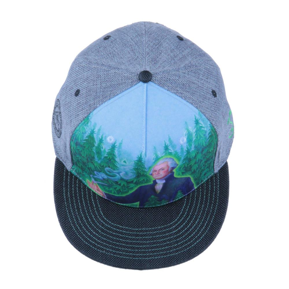 Alex Grey's George Washington Hemp Farmer Shallow Snapback - Grassroots California - 5