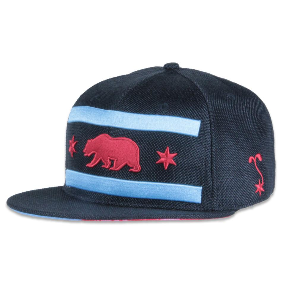 Chi Bear Black Hemp Fitted - Grassroots California - 1