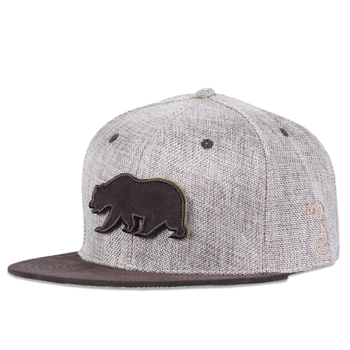 Removable Bear Tan Hemp Fitted - Grassroots California - 1