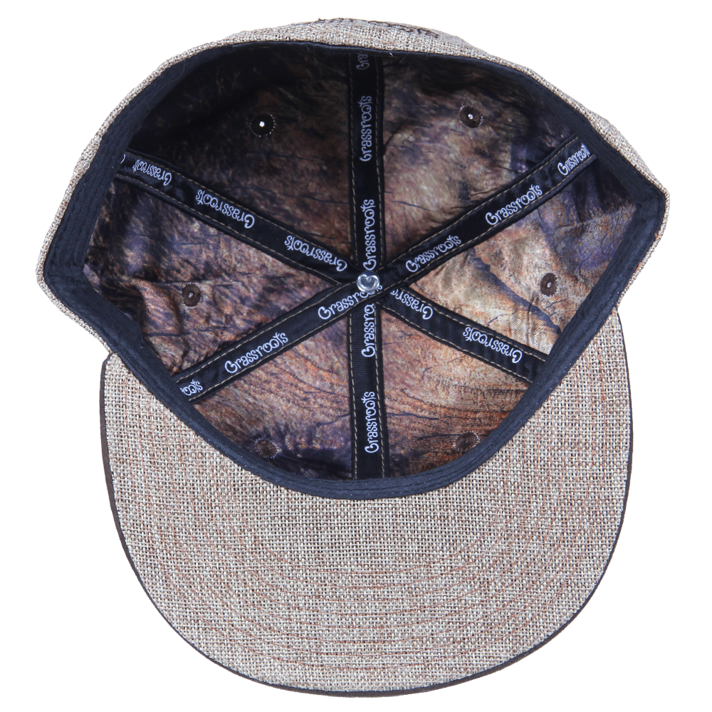 Removable Bear Tan Hemp Fitted - Grassroots California - 3