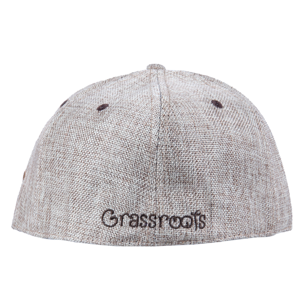 Removable Bear Tan Hemp Fitted - Grassroots California - 5