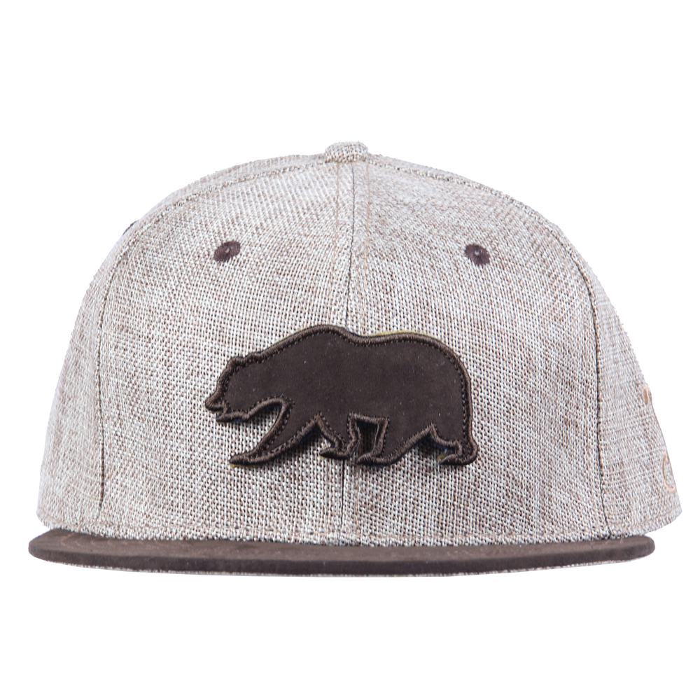 Removable Bear Tan Hemp Fitted - Grassroots California - 6