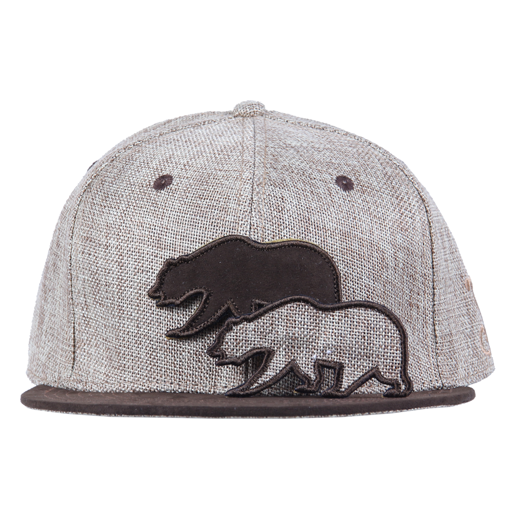 Removable Bear Tan Hemp Fitted - Grassroots California - 2