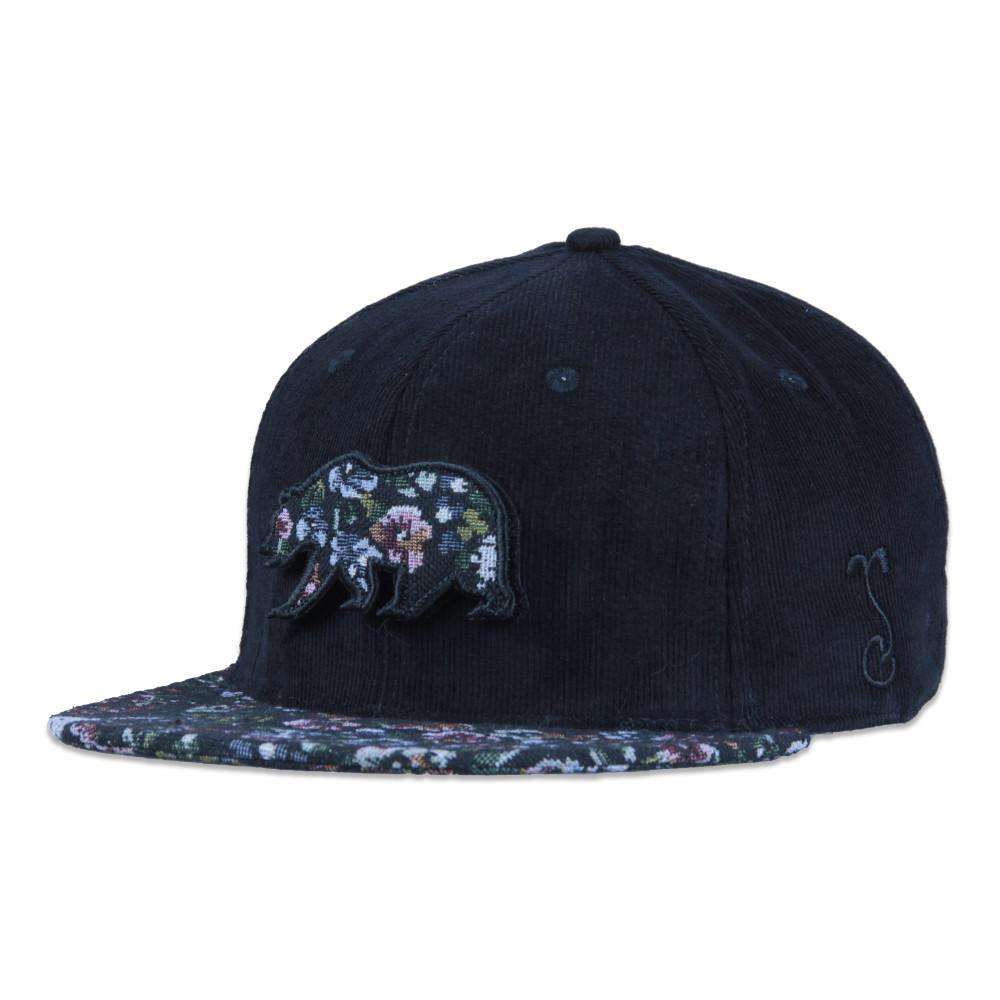Removable Bear Floral Dog Strapback - Grassroots California - 1
