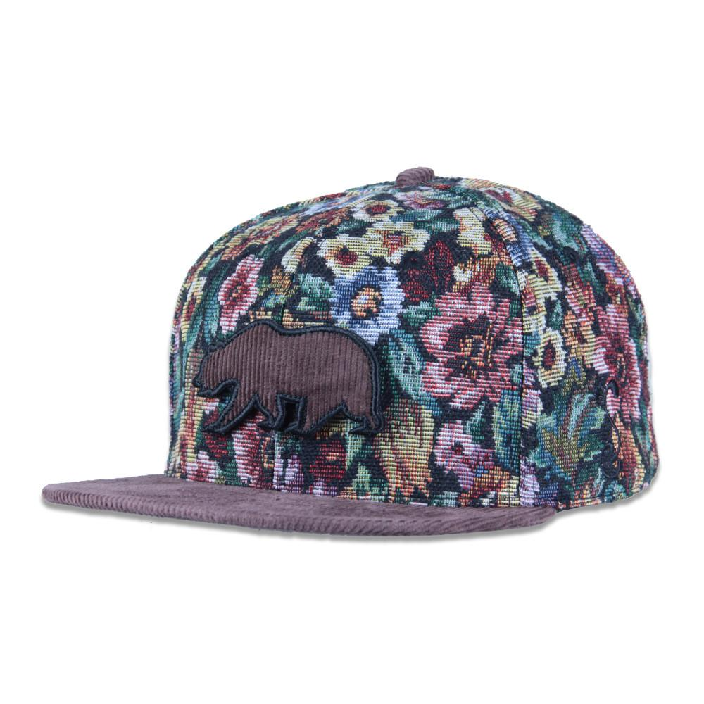 Removable Bear Brown Thrifty Floral Snapback