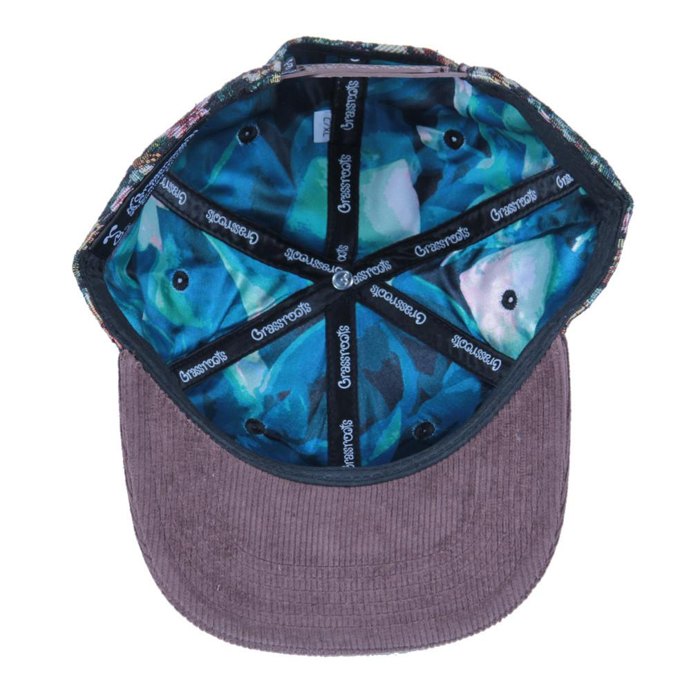 Removable Bear Brown Thrifty Floral Snapback - Grassroots California - 2
