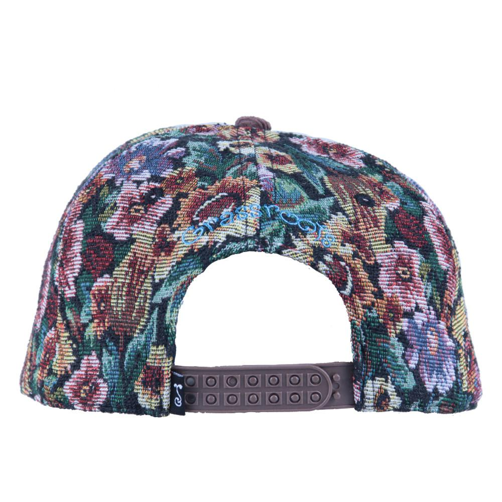 Removable Bear Brown Thrifty Floral Snapback - Grassroots California - 3