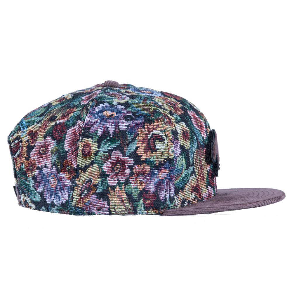 Removable Bear Brown Thrifty Floral Snapback - Grassroots California - 4