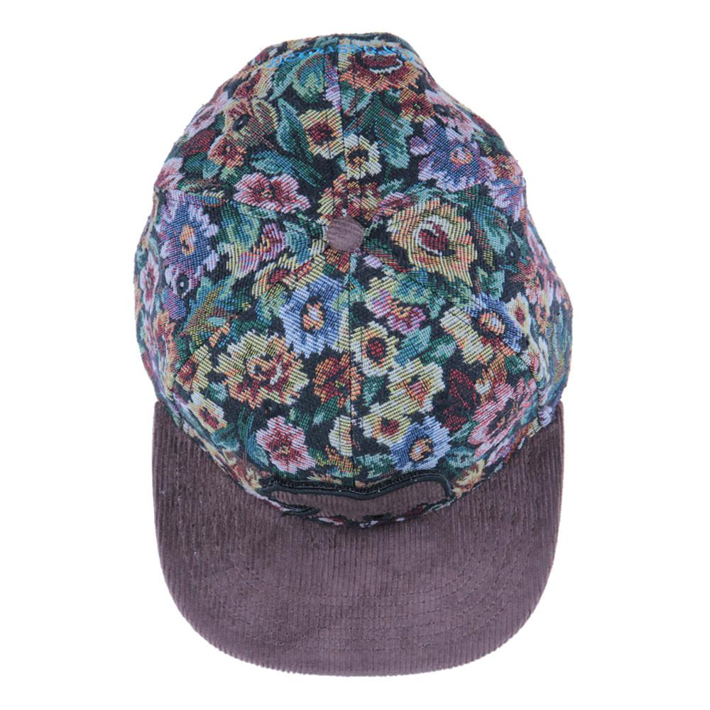 Removable Bear Brown Thrifty Floral Snapback - Grassroots California - 5