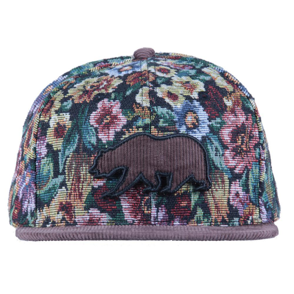 Removable Bear Brown Thrifty Floral Snapback - Grassroots California - 6