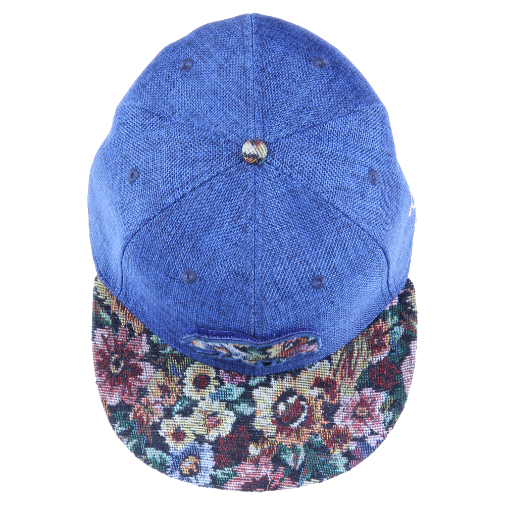 Removable Bear Navy Thrifty Floral Fitted - Grassroots California - 5
