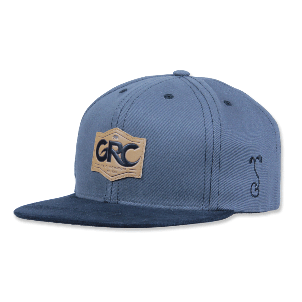 Made in USA GRC Classic Charcoal Suede Snapback