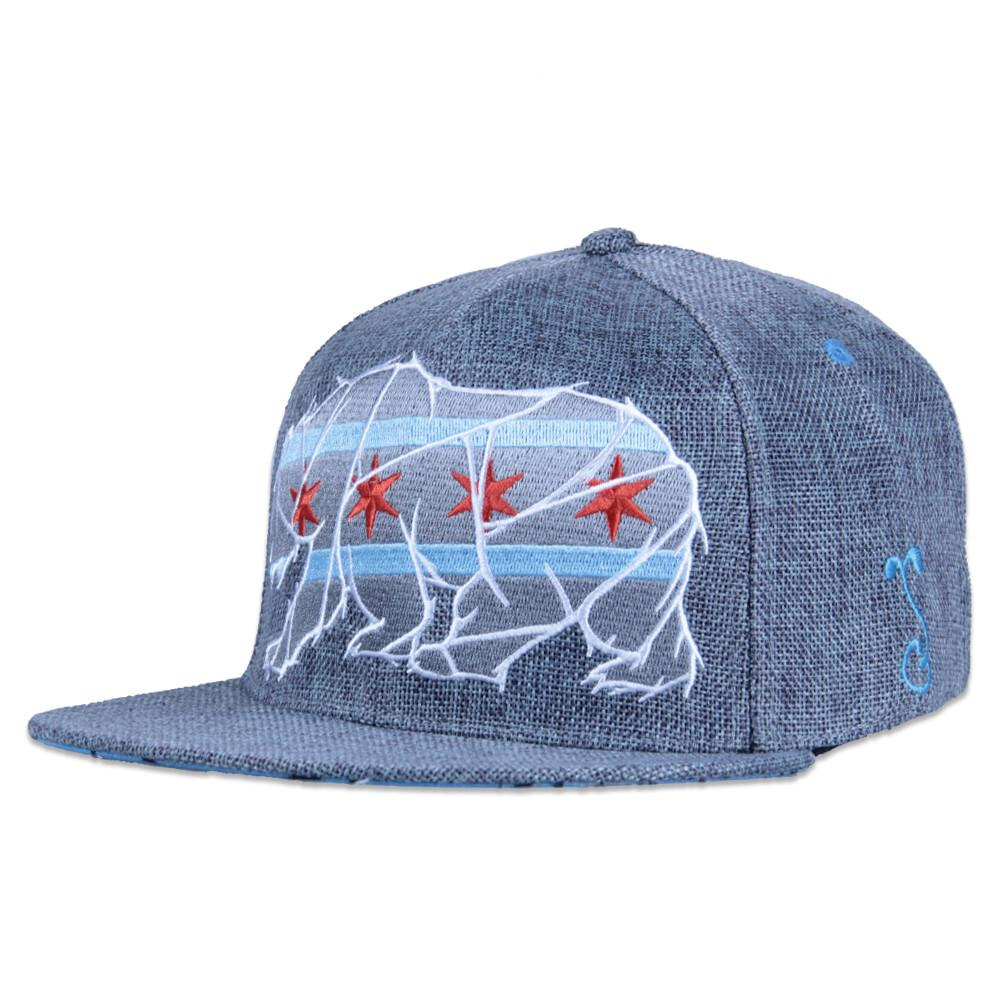 Chicago Mosaic Bear Gray Fitted