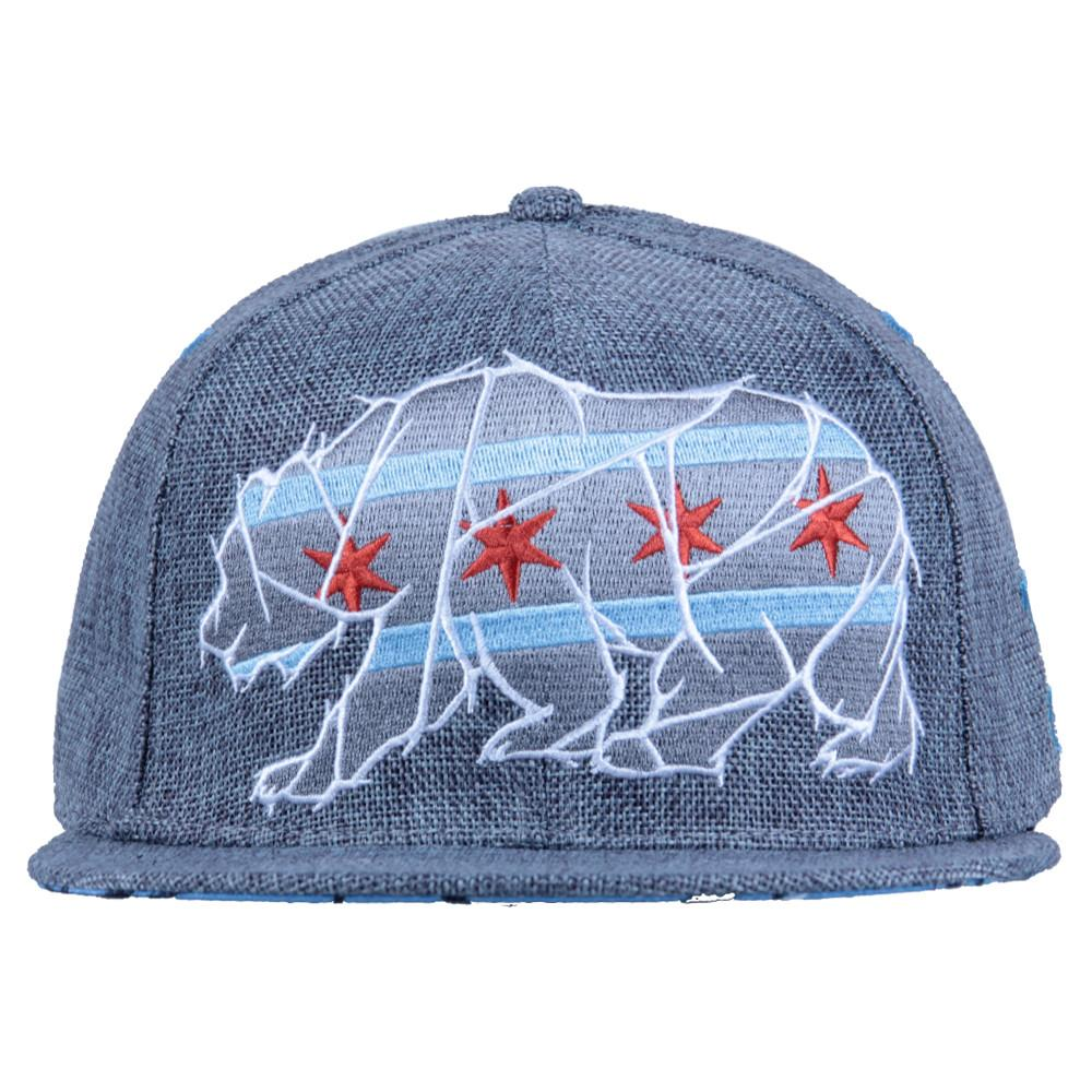 Chicago Mosaic Bear Gray Fitted - Grassroots California - 3