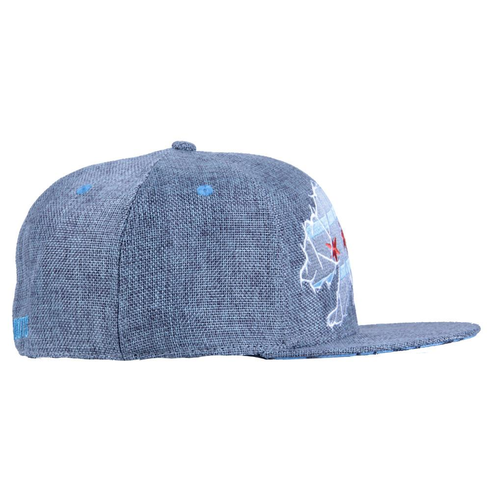 Chicago Mosaic Bear Gray Fitted - Grassroots California - 4