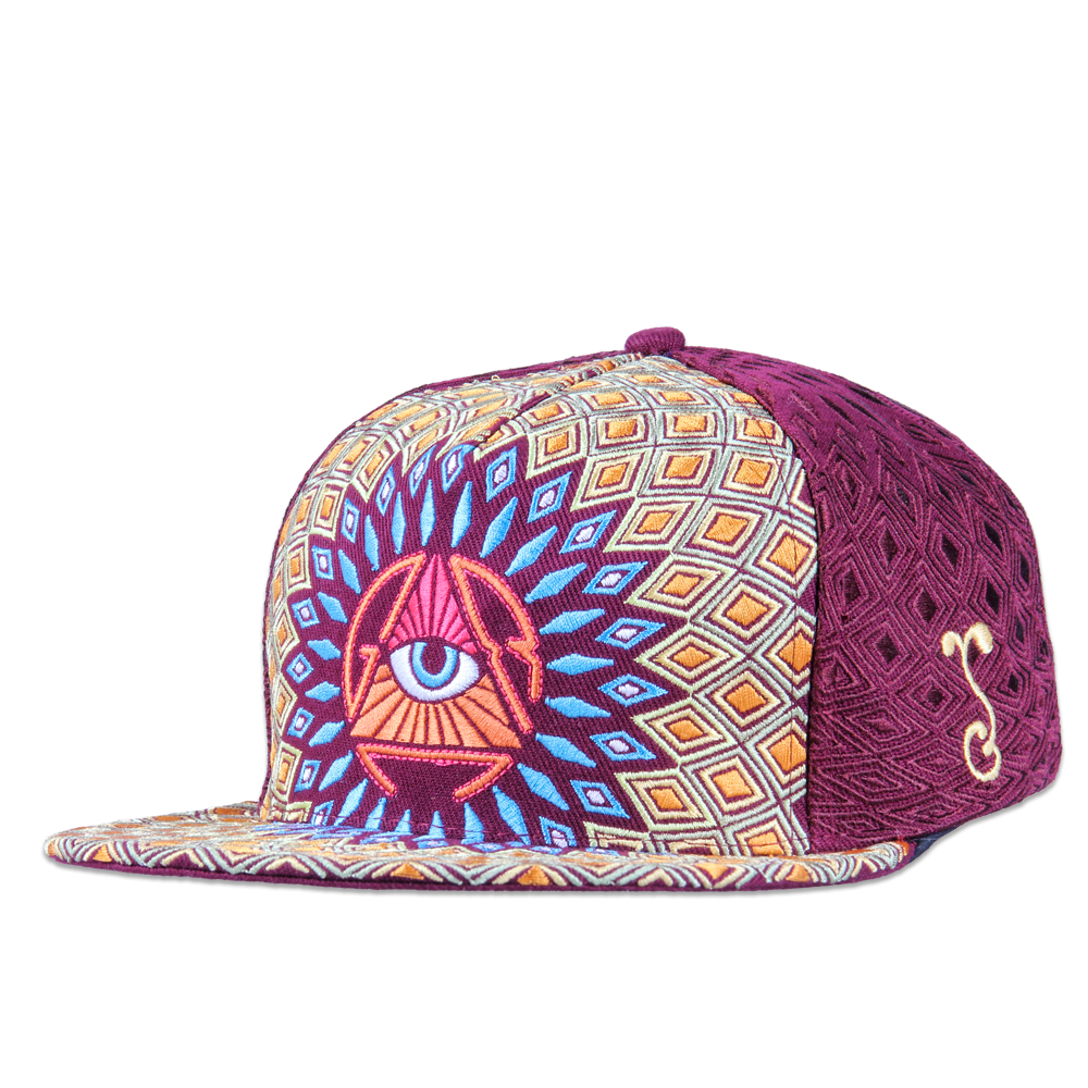 San Pedro Del Sol Burgundy Fitted - Grassroots California - 1