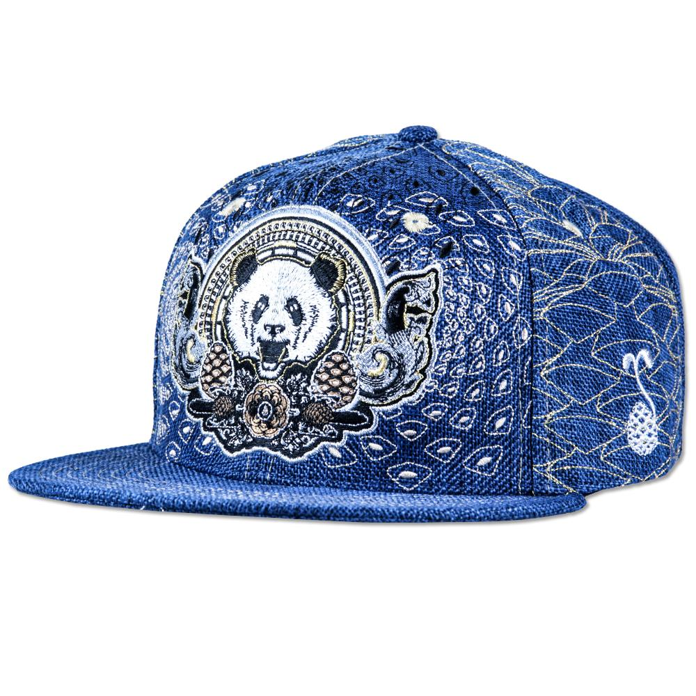 Third Eye Pinecone Panda Navy Fitted