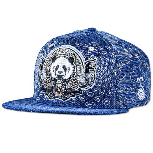 Third Eye Pinecone Panda Navy Fitted - Grassroots California - 1