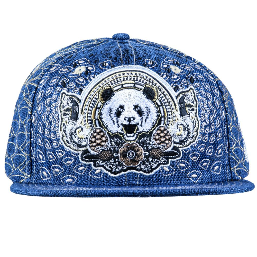Third Eye Pinecone Panda Navy Fitted - Grassroots California - 6