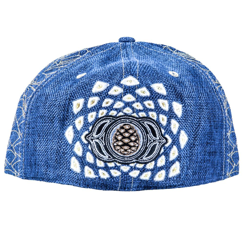 Third Eye Pinecone Panda Navy Fitted - Grassroots California - 3