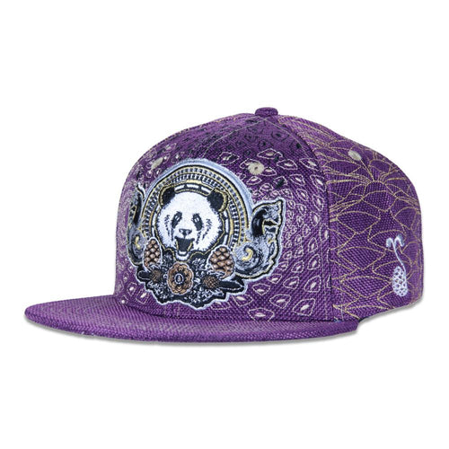 Third Eye Pinecone Panda Purple Fitted - Grassroots California - 1