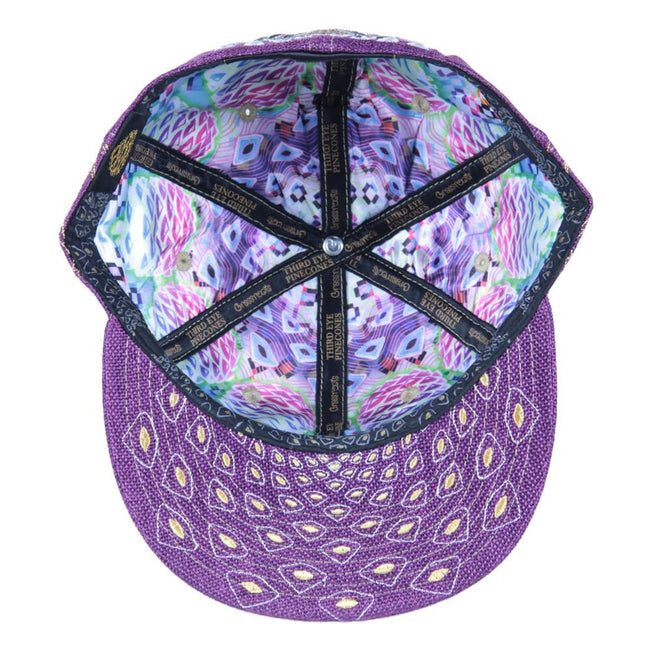 Third Eye Pinecone Panda Purple Fitted - Grassroots California - 3