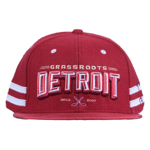 Grassroots Detroit Red Snapback - Grassroots California - 2