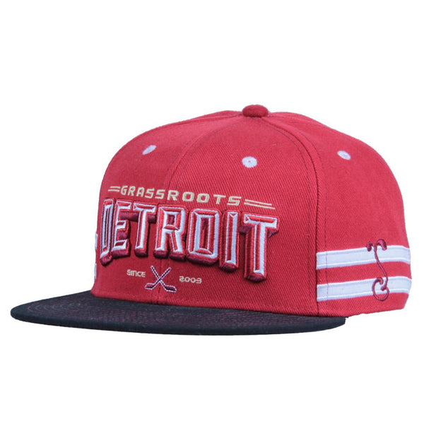 Grassroots Detroit Red Black Fitted - Grassroots California - 1