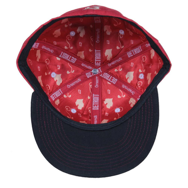 Grassroots Detroit Red Black Fitted - Grassroots California - 2