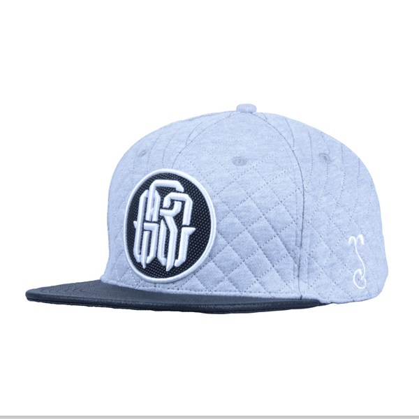 GRC Quilted Monogram Gray Strapback - Grassroots California - 1