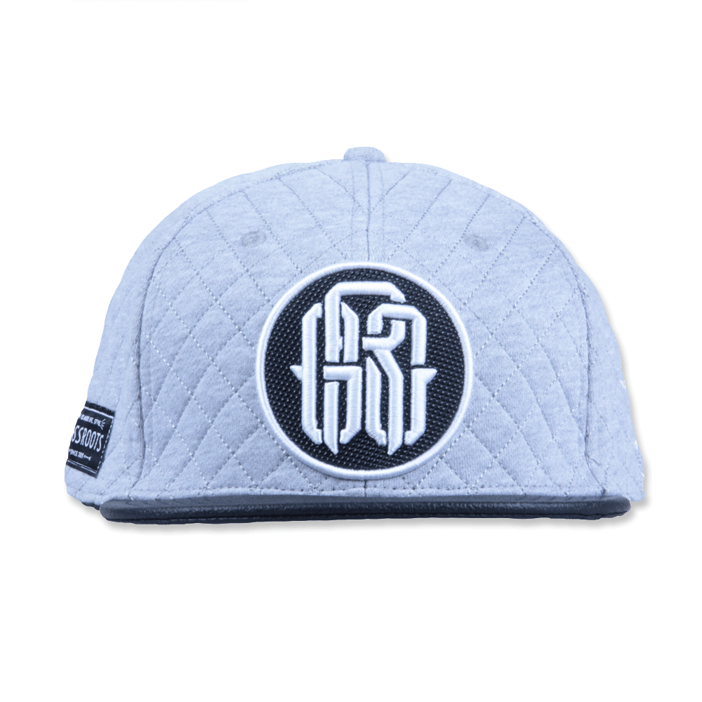 GRC Quilted Monogram Gray Strapback - Grassroots California - 3