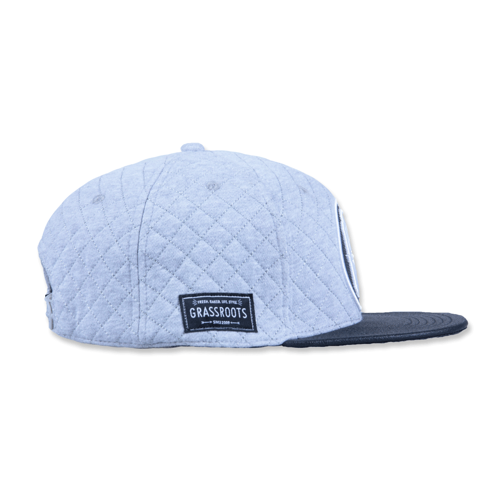 GRC Quilted Monogram Gray Strapback - Grassroots California - 4
