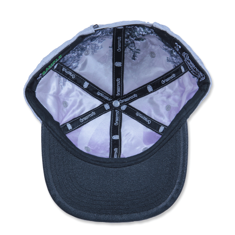 GRC Quilted Monogram Gray Strapback - Grassroots California - 2