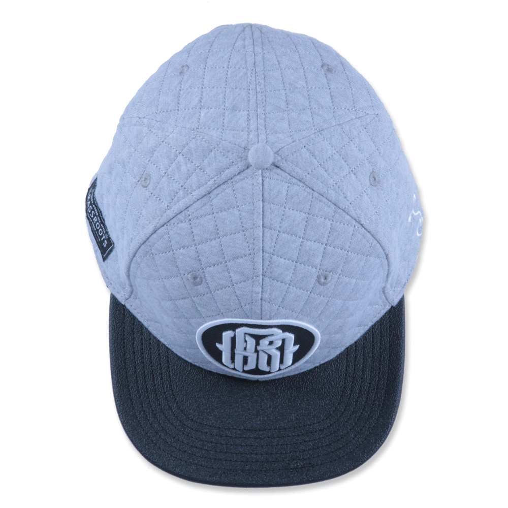 GRC Quilted Monogram Gray Strapback - Grassroots California - 5