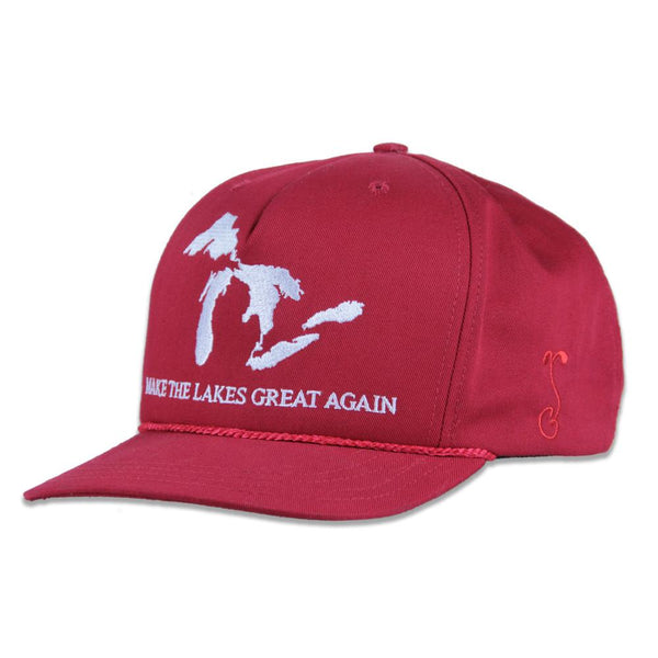 Make the Lakes Great Again Red Strapback - Grassroots California - 1