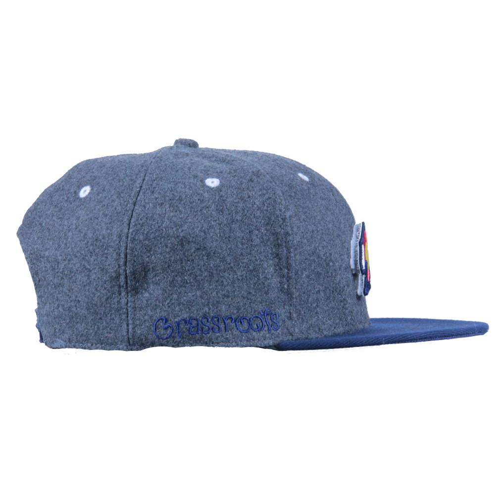 Removable Bear Colorado Flag Gray Wool Snapback - Grassroots California - 5