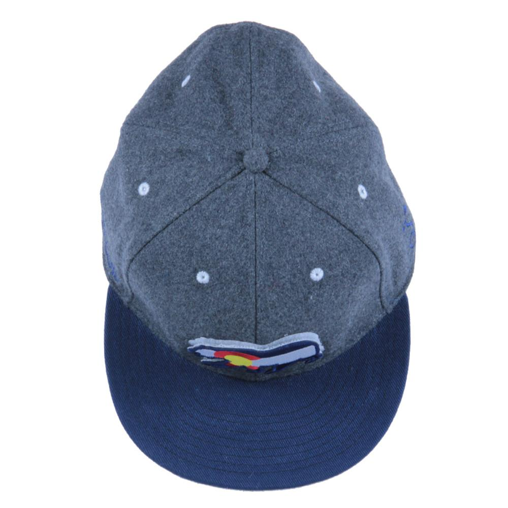 Removable Bear Colorado Flag Gray Wool Snapback - Grassroots California - 7