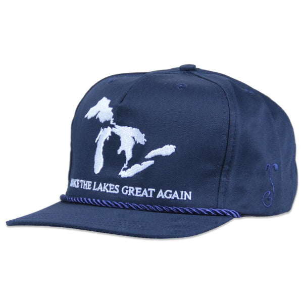 Make the Lakes Great Again Navy Strapback - Grassroots California - 1