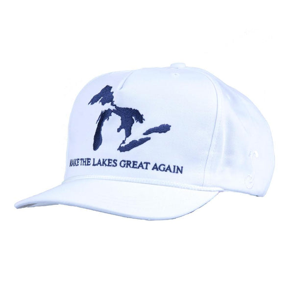 Make the Lakes Great Again White Strapback - Grassroots California - 1
