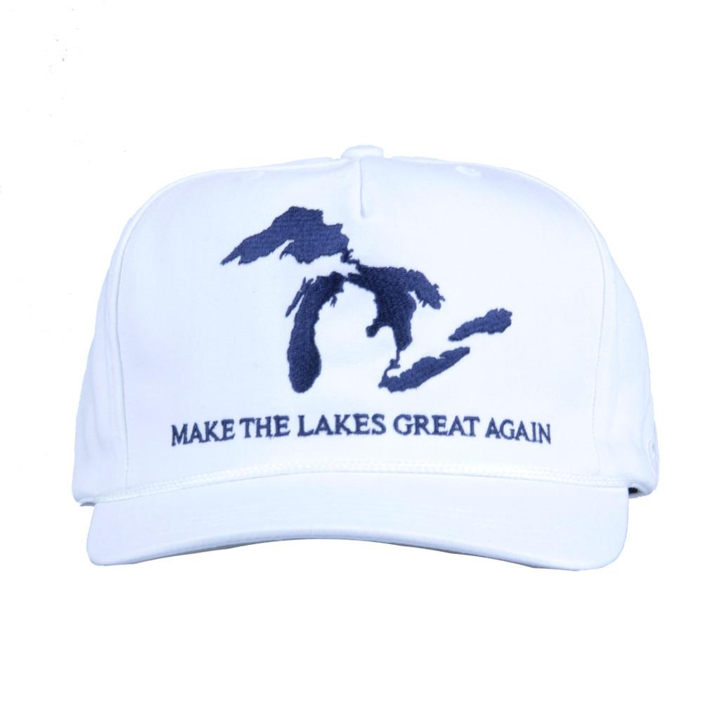 Make the Lakes Great Again White Strapback - Grassroots California - 3