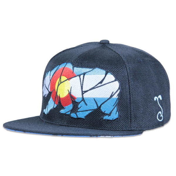 Colorado Mosaic Bear Black Fitted - Grassroots California - 1