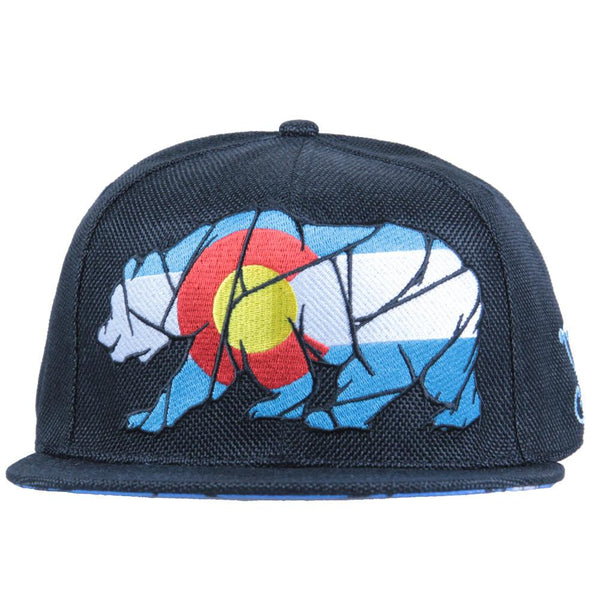 Colorado Mosaic Bear Black Fitted - Grassroots California - 3
