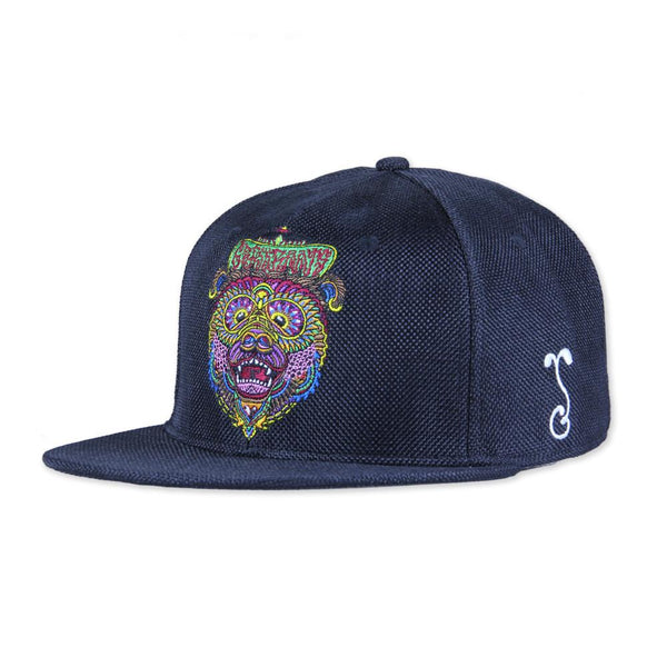 Chris Dyer OG Bear Black Hemp Snapback - Grassroots California - 1