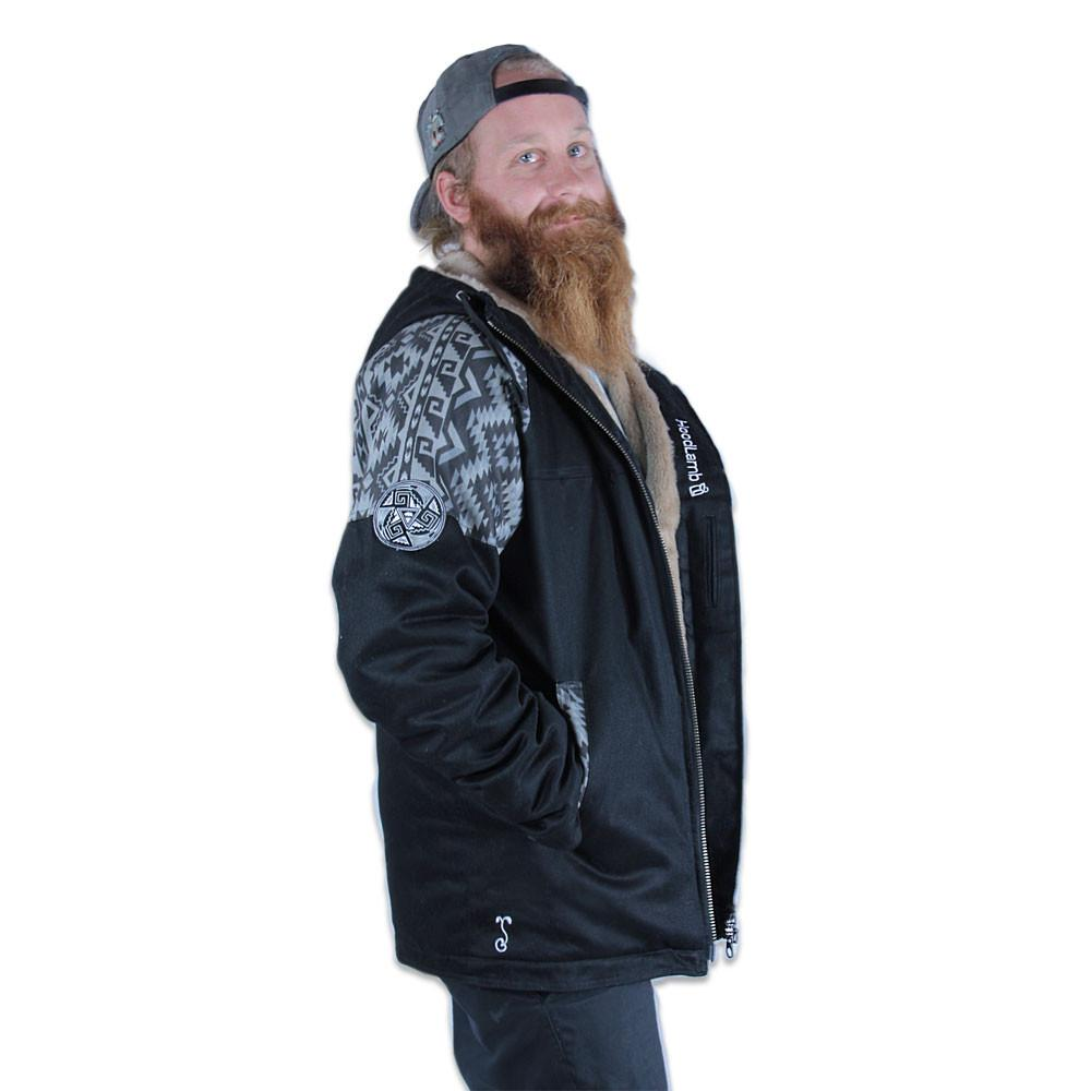 Mens Hemp Hoodlamb 2016 Black Aztec Jacket - Grassroots California - 7