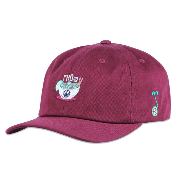 Pho 20 Maroon Dad Hat - Grassroots California - 1